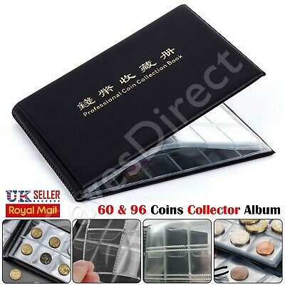 60-96 Coins Collectors Coin Album for 50p Olympic Beatrix old 50p £2 £1 Book