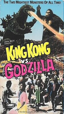King Kong Vs. Godzilla (VHS) Kaiju Awesome!