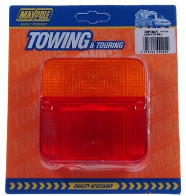 Rear Lamp - Square  - Lens Only - 003 005 MAYPOLE