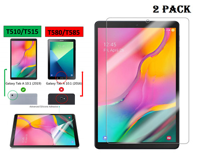 "2 X Clear HD Screen Protector For Samsung Galaxy Tab A 10.1""(2019) SM-T510 /T515"