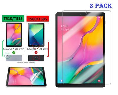 "3 X Clear HD Screen Protector For Samsung Galaxy Tab A 10.1""(2019) SM-T510 /T515"