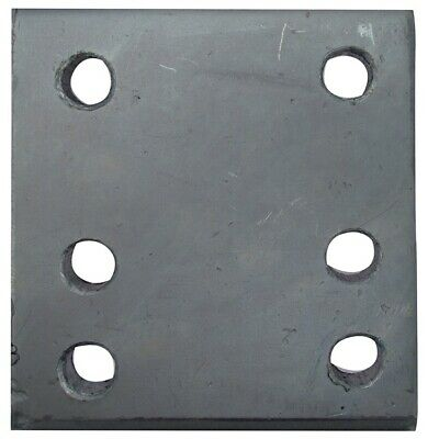 Drop Plate - 6 Hole - Zinc Plated - 4in. 233A MAYPOLE