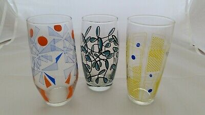AWESOME Lot of 3 VINTAGE Drinking Glasses. A Must See!