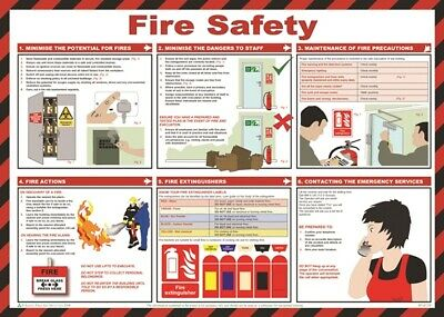 Fire Safety Poster - 59cm x 42cm A616T SAFETY FIRST AID