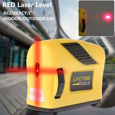 2 Line 1 360° Laser Level Self-Levelling Point Horizontal & Vertical Red Measure