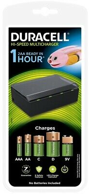 Hi-Speed Universal Multi-Battery Charger - AA, AAA, C, D & 9V DURCEF22 DURACELL