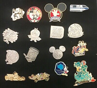 Disney 16 Pins .Good Trading Pins.incl Mickey Neat & Pretty..mickey Helping Hand