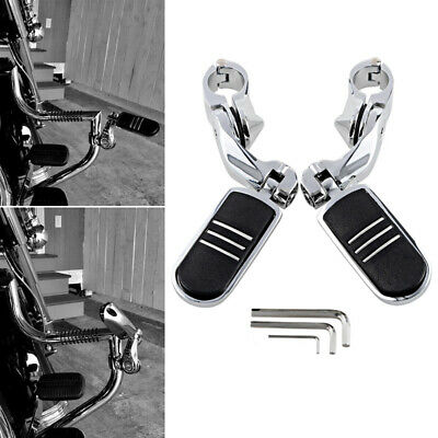 Motors Set Footrest Highway Foot Pegs 1-1/4 Bars Clamps For Harley Touring Motorcycle Motorcycle Footrests, Pedals & Pegs
