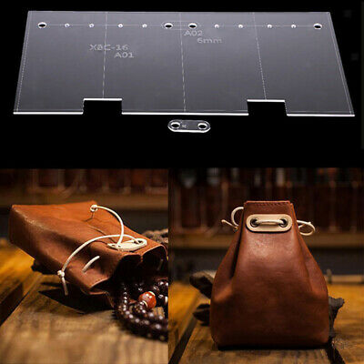 2pc Clear Acrylic Stencil Template Handcrafting For Leather Wallet Pattern