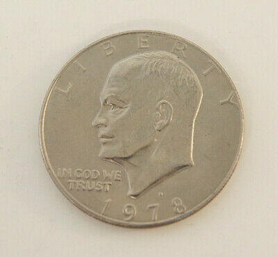 1978-D One Dollar Coin Liberty Dwight D. Eisenhower E Pluribus Unum $1