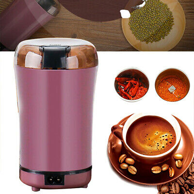 180W Electric Coffee Mill Grinder Beans Spices Nuts Grinding Machine Blade AU
