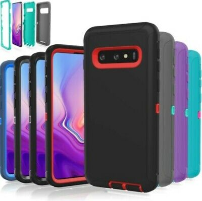 Samsung Galaxy S10+ S9 Note 8 9 Case Shockproof Hybrid Rubber Armor Rugged Cover