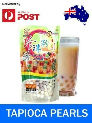 Tapioca Pearls for Bubble, Boba, Milk Tea Drink Rainbow WuFuYuan 250g AUS Seller