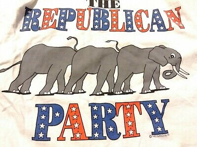 Vintage Vote Democrat Elephants Up Butts T Shirt The Outhouse 1992