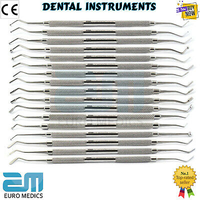 Double Ended Scalers Dental Composite Plastic Filling Instruments Set Of 17 New