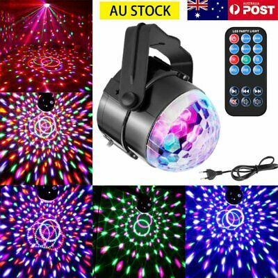 Disco Party DJ LED RGB Stage Effect Light Lamp Laser Crystal Magic Ball w/ RC AU
