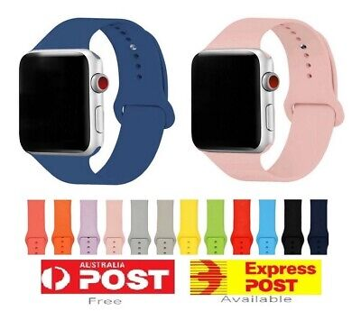 Silicone Replacement Strap Band For Apple Watch 5 4 3 2 iWatch 38/40mm 42/44mm