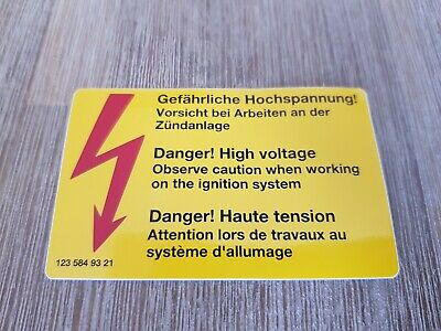 Genuine Mercedes-Benz Danger! High Voltage Sticker A1235849321