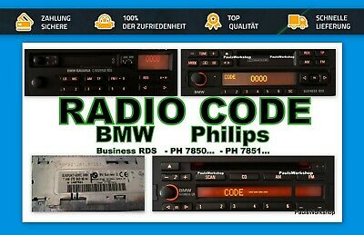 Original Radio Code - BMW Bavaria C Reverse RDS Business CD KEY CODE PH7850