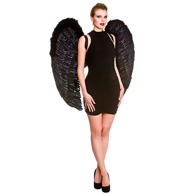 Giant Black Feather Angel Wings XL Extra Large Wings
