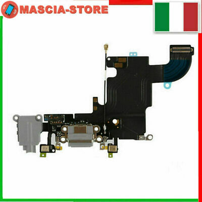 IPHONE 6s Flex flat Dock Connettore Ricarica Cavo Microfono + Jack Audio NERO