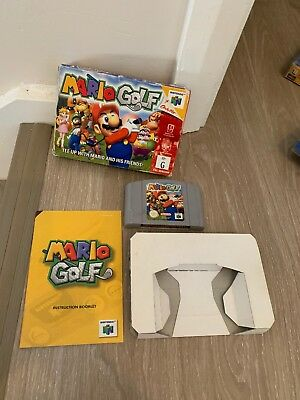 Nintendo 64 Game Mario Golf Complete Boxed