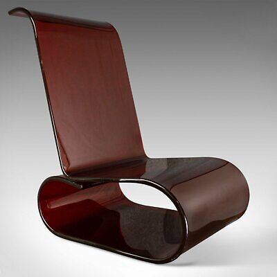 Vintage, Perspex, Acrylic, Seat, Retro, Lounge Chair, French, Circa 1970