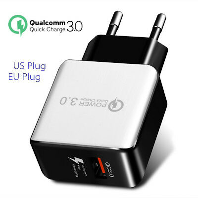 ALS_ HK- Quick Charge 3.0 USB 5V 3A Phone Wall Home Travel Fast Charger Adapter
