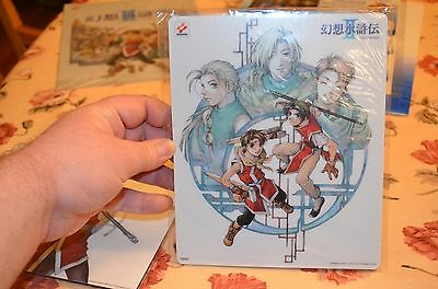 Suikoden II 2 Mousepad BRAND NEW FACTORY SEALED GREAT FIND VERY RARE!