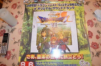 Dragon Quest VII 7 Official Promo Poster VERY RARE Hard to Find Promo! Good Cond