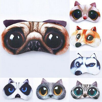 Soft Cute Blindfold 3D Sleeping Eyepatch Nap Eye Mask Sleeping Aid Shade Cover