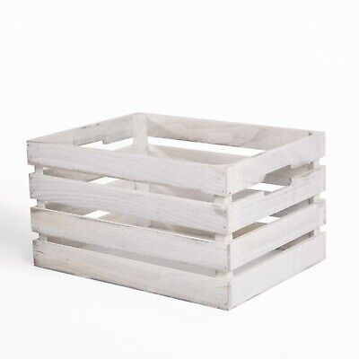 Wickerfield Vintage Farm Shop Style Wooden Slatted Gift Display Storage Crate