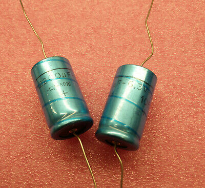 x4 fd2j97 33UF 6.3V AXIAL ELECTROLYTIC PHILIPS CAPACITOR