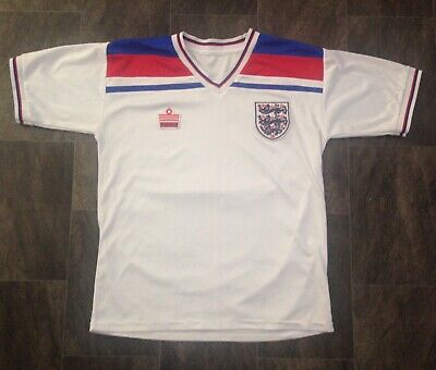 "Large 42""Retro Admiral Remake Classic 1982 World Cup England Home Football Shirt"