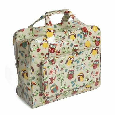 HobbyGift Sewing Machine Bag - Owl Design - Glossy PVC Storage Crafts