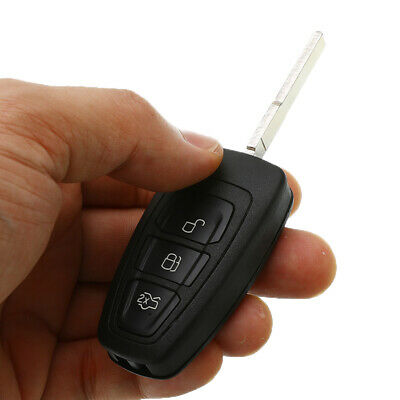 3 Button Flip Remote Key Fob Case Shell Black For Ford Focus MK3 and T6 Ranger