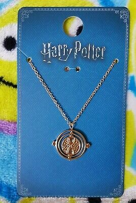 Primark Harry Potter Time Turner Spell Gold Coloured Charm Chain Necklace