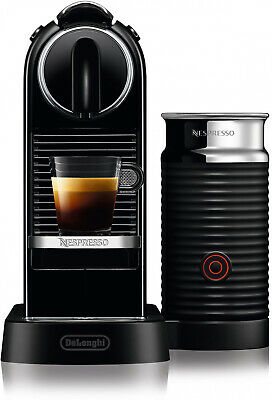 Nespresso By Delonghi CitiZ Espresso Maker Bundle With Aeroccino Frother In