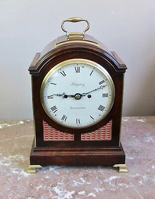 Mahogany verge pad top bracket clock by Thomas Humphry of Guildford circa 1795