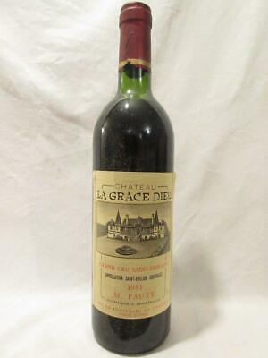 saint-émilion château la grace dieu grand cru rouge 1981 - bordeaux france