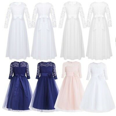 Children Kids Flower Girl Dress Wedding Bridesmaid Pageant Party Formal Dresses
