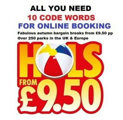 Sun Holiday July Booking Codes £9.50 ALL 10 Token Code Words ⛱Instant Response⛱