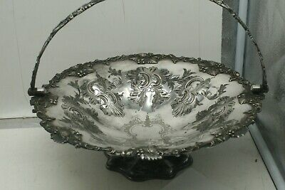 LARGE SILVER PLATED FRUIT BASKET  by Martin Hall & Co.
