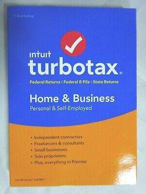 TurboTax Home & Business 2018 Efile PC/MAC Disc (SR143)