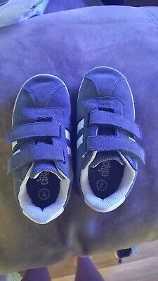 Toddler Boy/'s Blue Canvas Sneakers by Swiggles Choice of Size Strap Closure