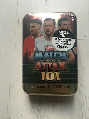 Match Attax 101 2019 Sealed Mega Tin + 50 Cards Inc Gold Limited Edition