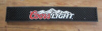 COORS LIGHT RUBBER BAR RAIL GUTTER SPILL MAT BARWARE Man cave COASTER