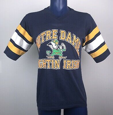 Vintage Norte Dame Fighting Irish Jersey  T Shirt Jersey Mens M Logo 7 Made USA