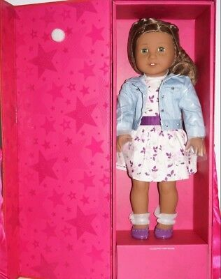 American Girl Doll Cyo.lets Smile Outfit, Accessories,Ears Pierced+ Glasses.nib