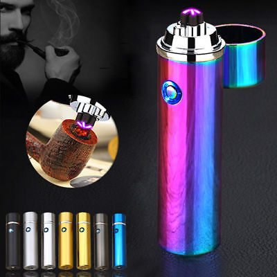Flameless Electrical Round Cigarette/cigar rechargeable windproof USB lighter